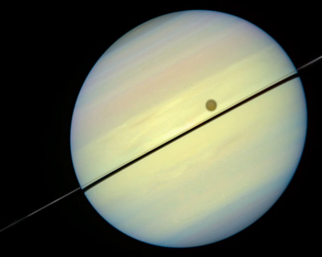 Movie Shows Saturn and Rings Tipped Edge-on Toward Earth