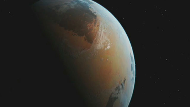 Artist's impression of an unknown planet