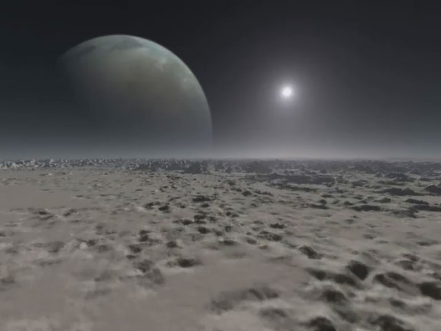 Extrasolar planet animation