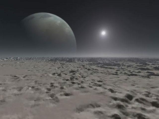 Extrasolar planet animation