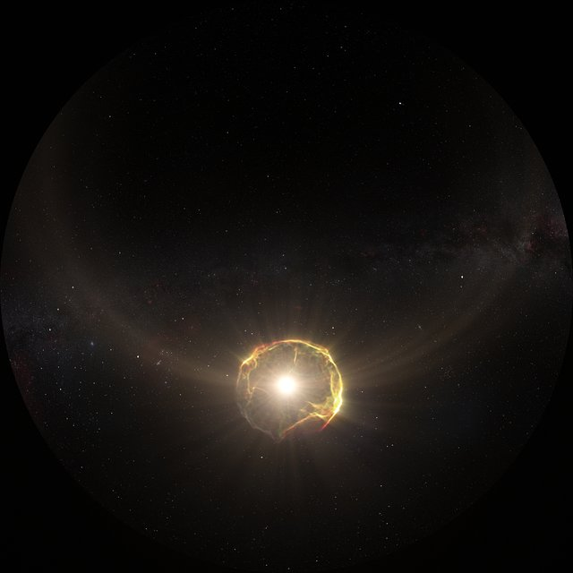 Fulldome 3D Animation of Supernova Explosion