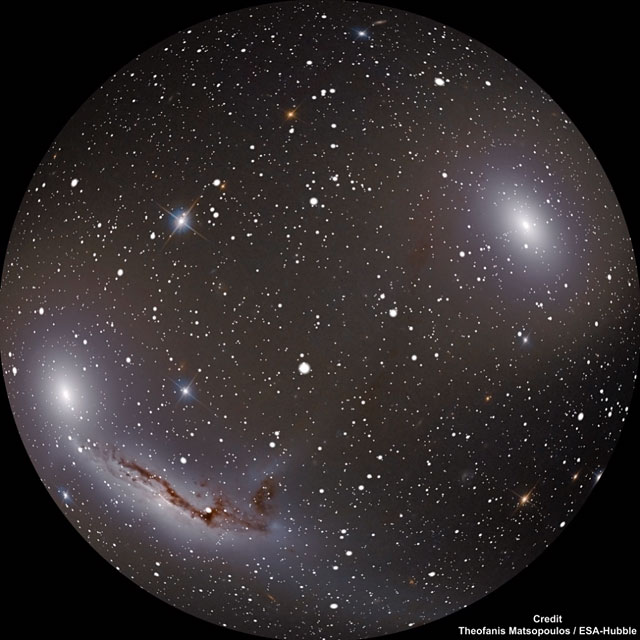 Trio of Galaxies (for fulldome planetarium use)