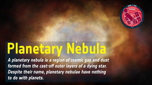 Word Bank: Planetary Nebula